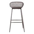 Moe's Home Collection Piazza Outdoor Bar Stool in Grey - Set of 2 (QX-1004-15)