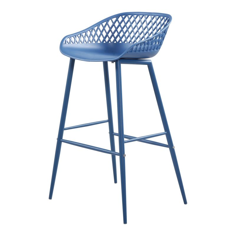 Moe's Home Collection Piazza Outdoor Barstool Blue - Set of 2 (QX-1004-26)