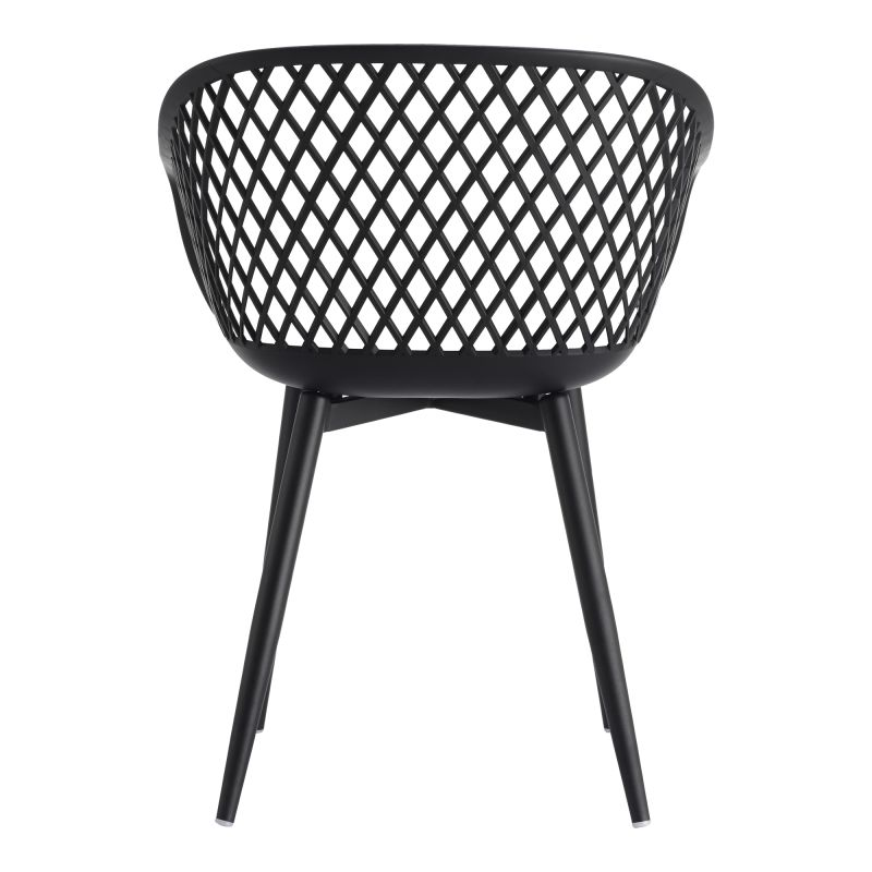 Moe's Home Collection Piazza Outdoor Chair Black - Set of 2 (QX-1001-02)