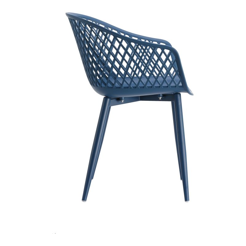 Moe's Home Collection Piazza Outdoor Chair Blue - Set of 2 (QX-1001-26)