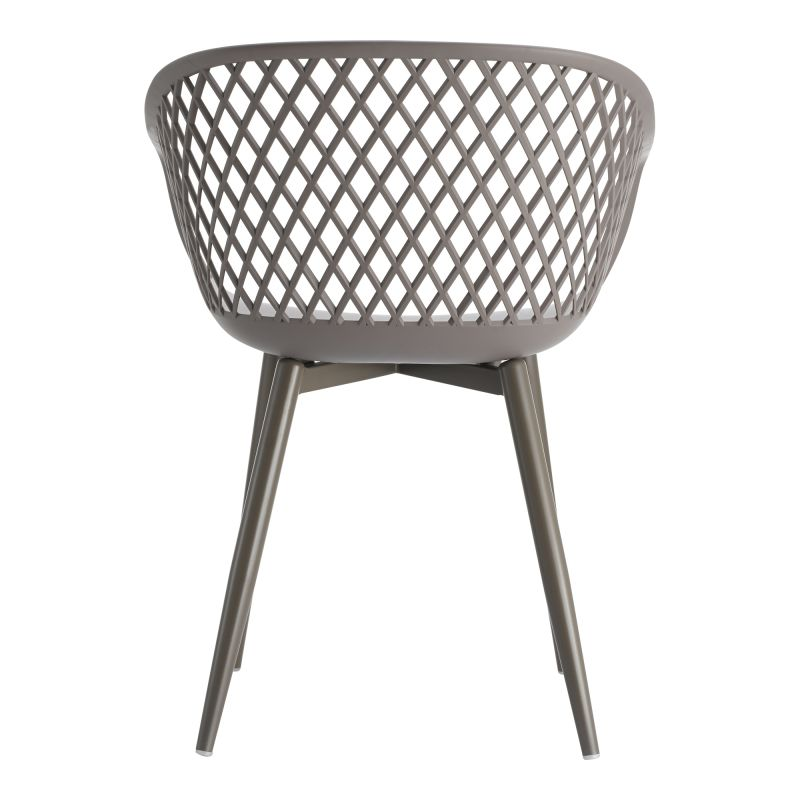 Moe's Home Collection Piazza Outdoor Chair Grey - Set of 2 (QX-1001-15)