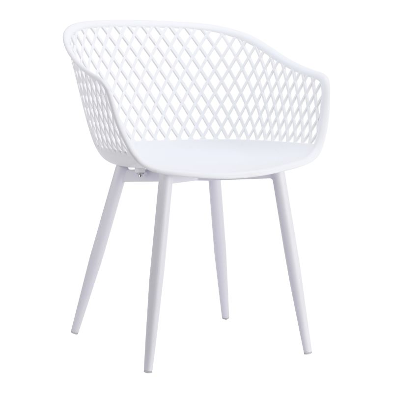 Moe's Home Collection Piazza Outdoor Chair White - Set of 2 (QX-1001-18)