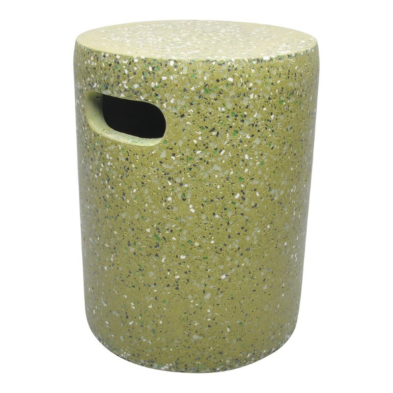 Moe's Home Collection Pillar Cement Stool in Green (VZ-1001-16)