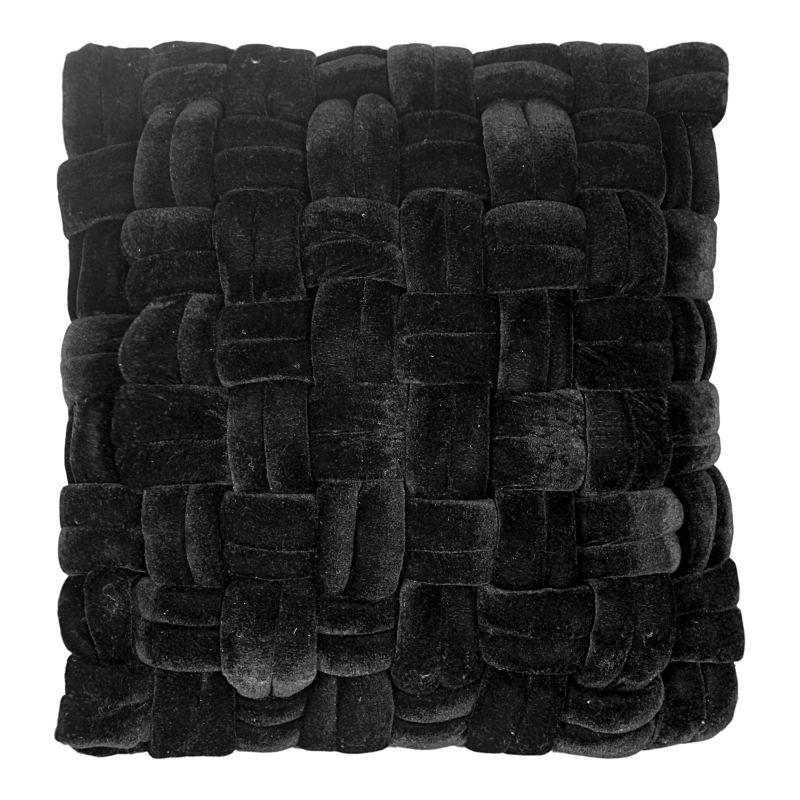 Moe's Home Collection Pj Velvet Pillow Black (LK-1001-02)
