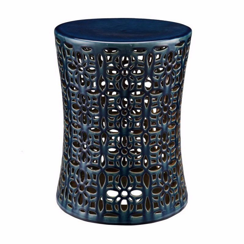 Moe's Home Collection Poppy Stool in Blue (XE-1009-19)