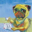 Moe's Home Collection Pug Party Wall Decor (RE-1142-37)
