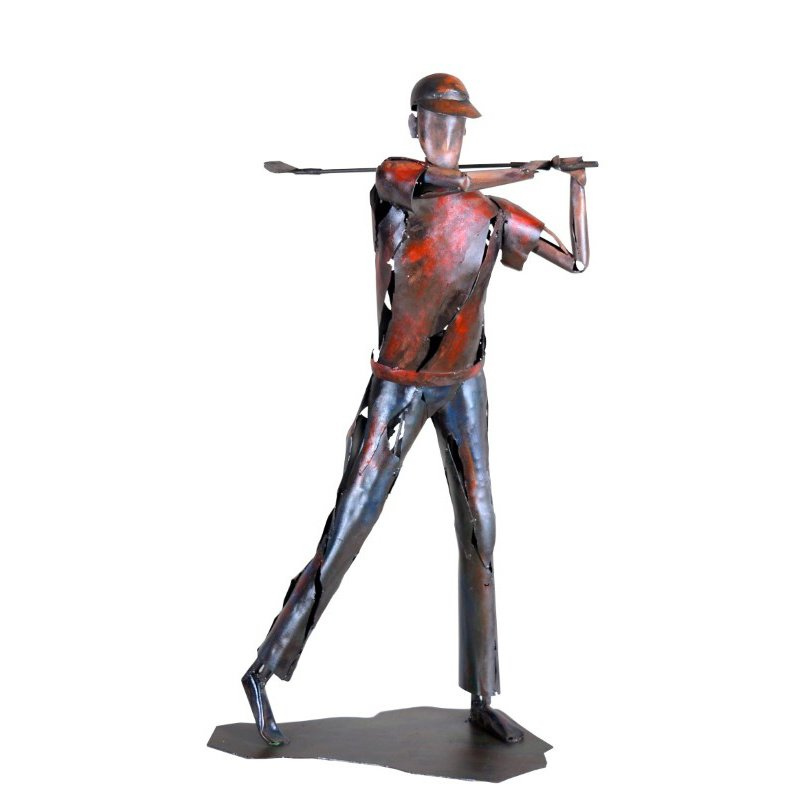 Moe's Home Collection Red Golfer Statue (PR-1021-04)