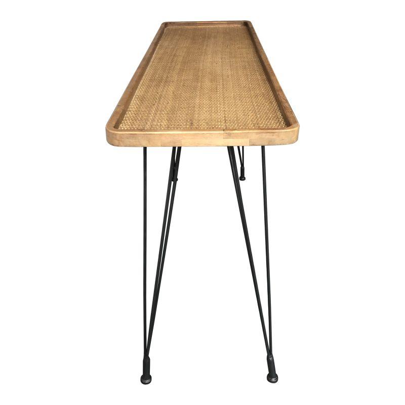 Moe's Home Collection Rollo Rattan Console Table (KK-1021-24)