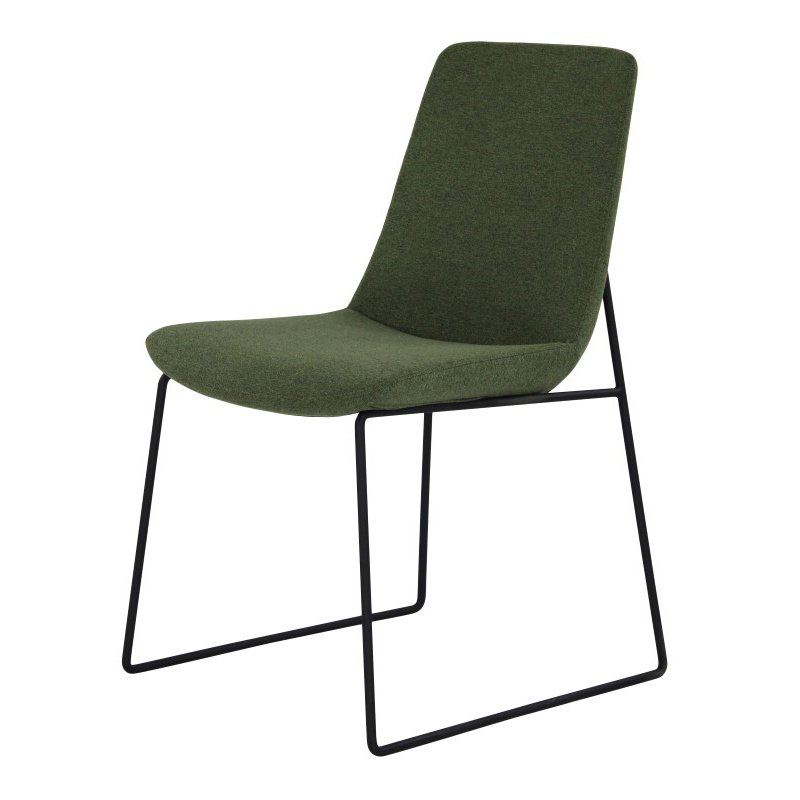 Moe's Home Collection Ruth Dining Chair in Green - Set of 2 (EJ-1007-27)