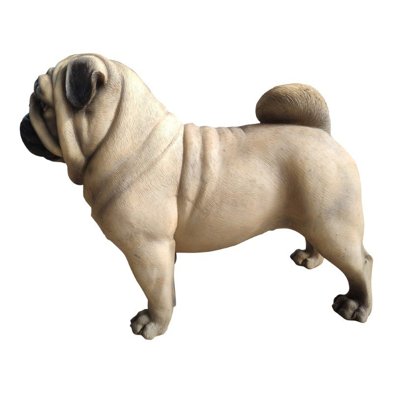 Moe's Home Collection Sir Pugsly Statue in Natural (LA-1074-24)
