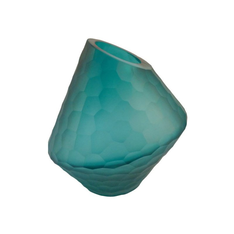 Moe's Home Collection Sky Vase in Short Blue (WD-1001-26)