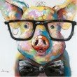 Moe's Home Collection Smart Pig Wall Decor (RE-1117-37)