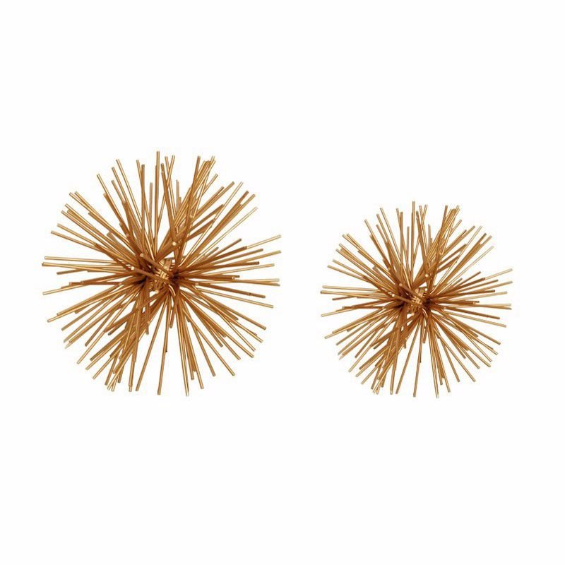 Moe's Home Collection Spikes Ball Gold - Set of 2 (MK-1000-32)