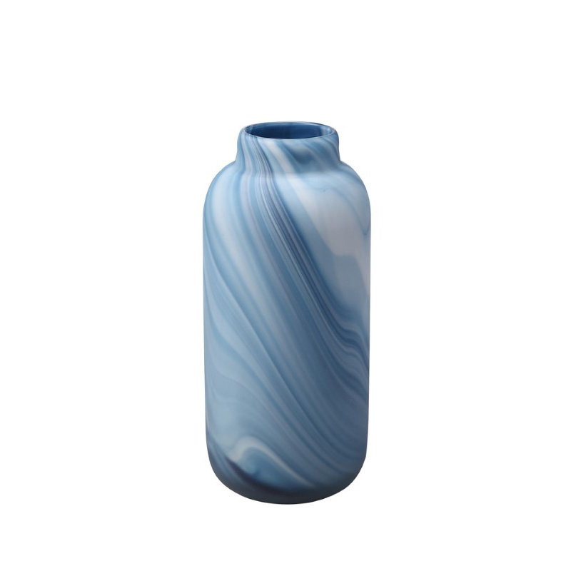 Moe's Home Collection Swirl Vase in Blue (WD-1015-26)