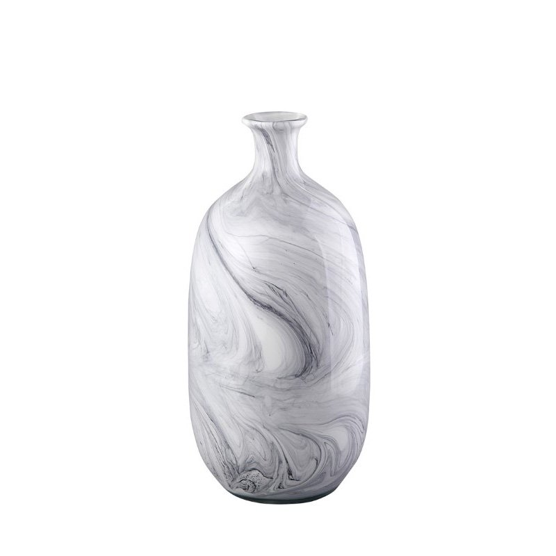 Moe's Home Collection Swirl Vase in Grey (WD-1014-29)