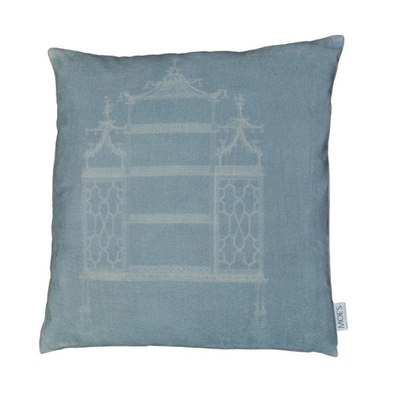 "Moe's Home Collection Temple Velvet Feather Cushion 25"" x 25"" (TS-1028-37)"
