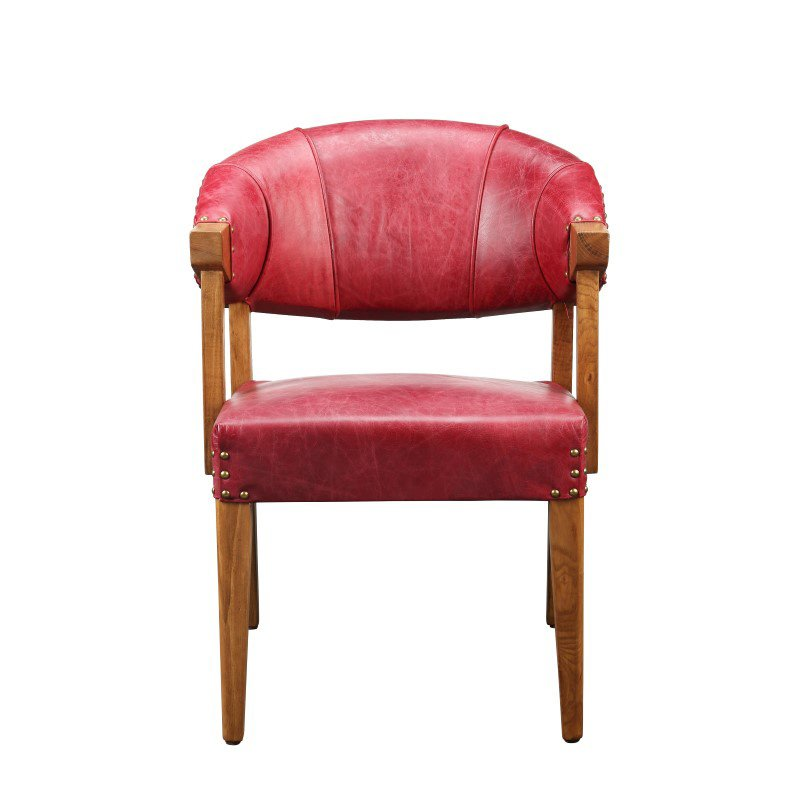 Moe's Home Collection Theodore Club Chair in Red (PK-1058-04)