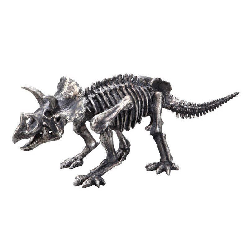 Moe's Home Collection Triceratops Sculpture in Silver (SG-1015-30)
