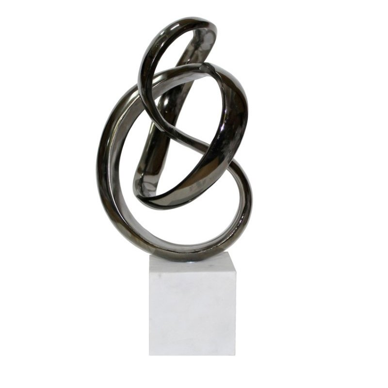 Moe's Home Collection Unbounded Sculpture in Black Nickel (MK-1027-25)