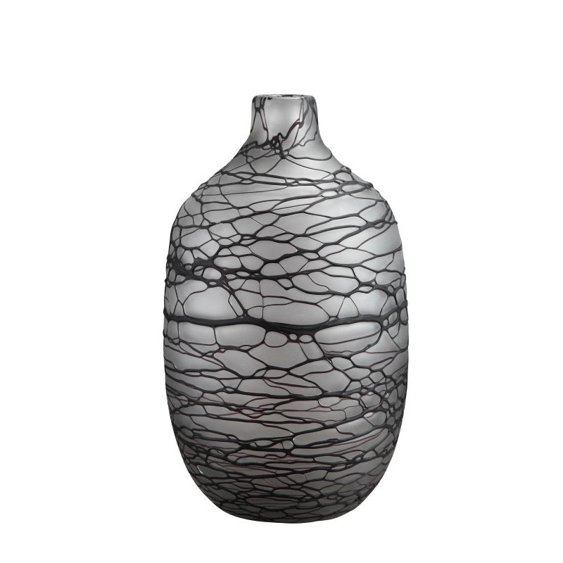 Moe's Home Collection Vein Jar Grey (WD-1005-25)