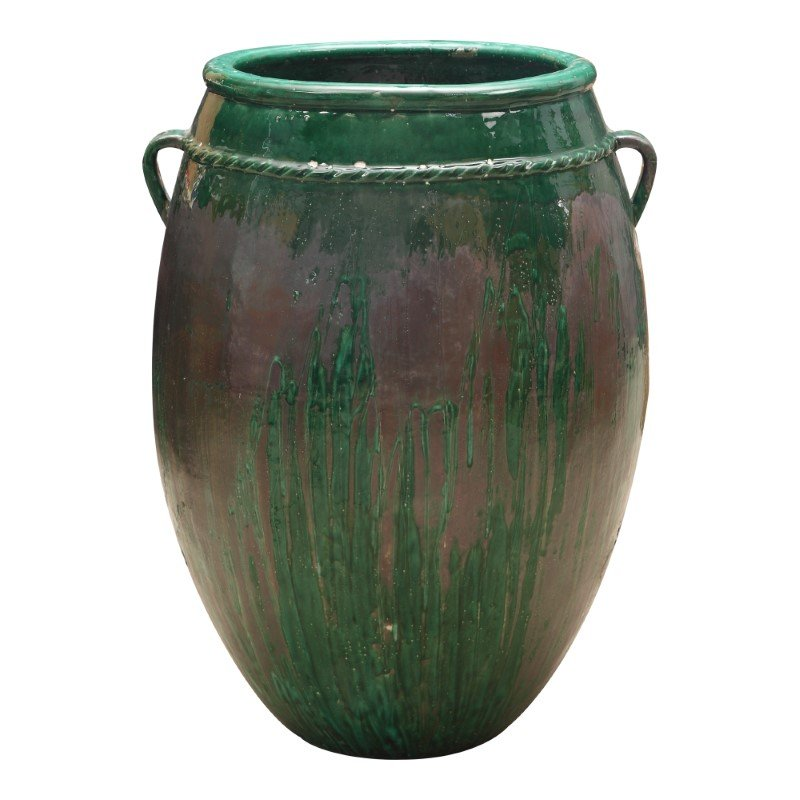 Moe's Home Collection Vert Terracotta Planter in Green (PY-1122-16)