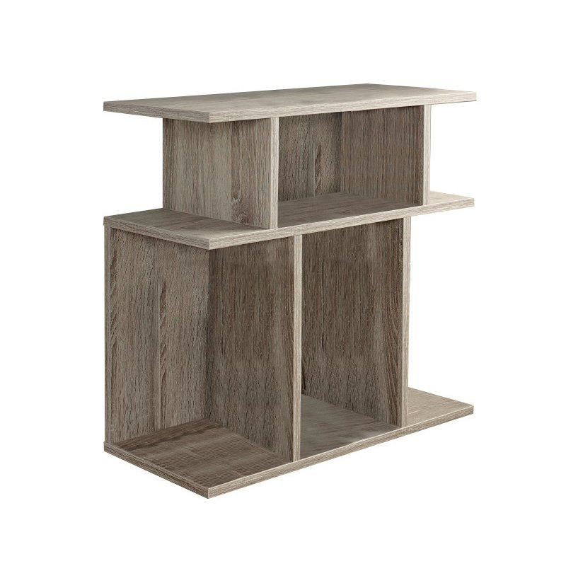 """Monarch 24"""" Accent Side Table in Dark Taupe"""