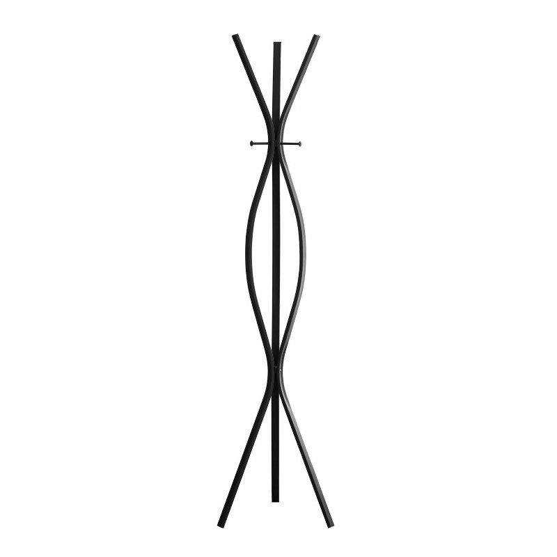 "Monarch 72"" Metal Contemporary Style Coat Rack in Black"