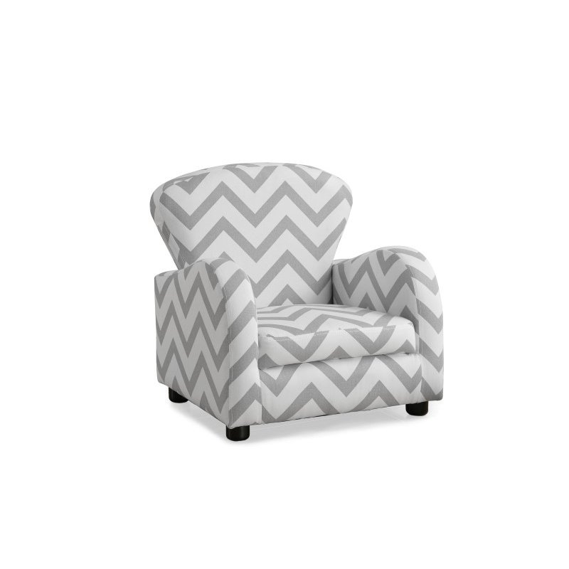 Monarch Chevron Fabric Juvenile Chair in Grey