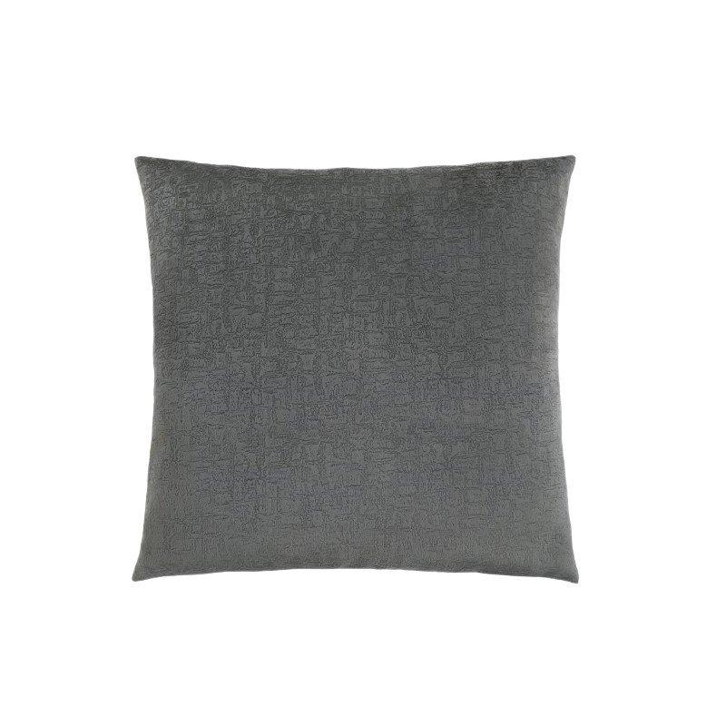 "Monarch Specialties 18"" x 18"" Pillow in Dark Grey Mosaic Velvet / 1pc (I 9274)"