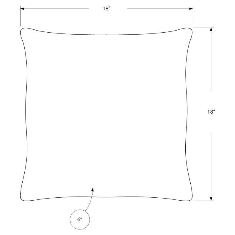 "Monarch Specialties 18"" x 18"" Pillow in Mint Satin / 2pcs (I 9341)"