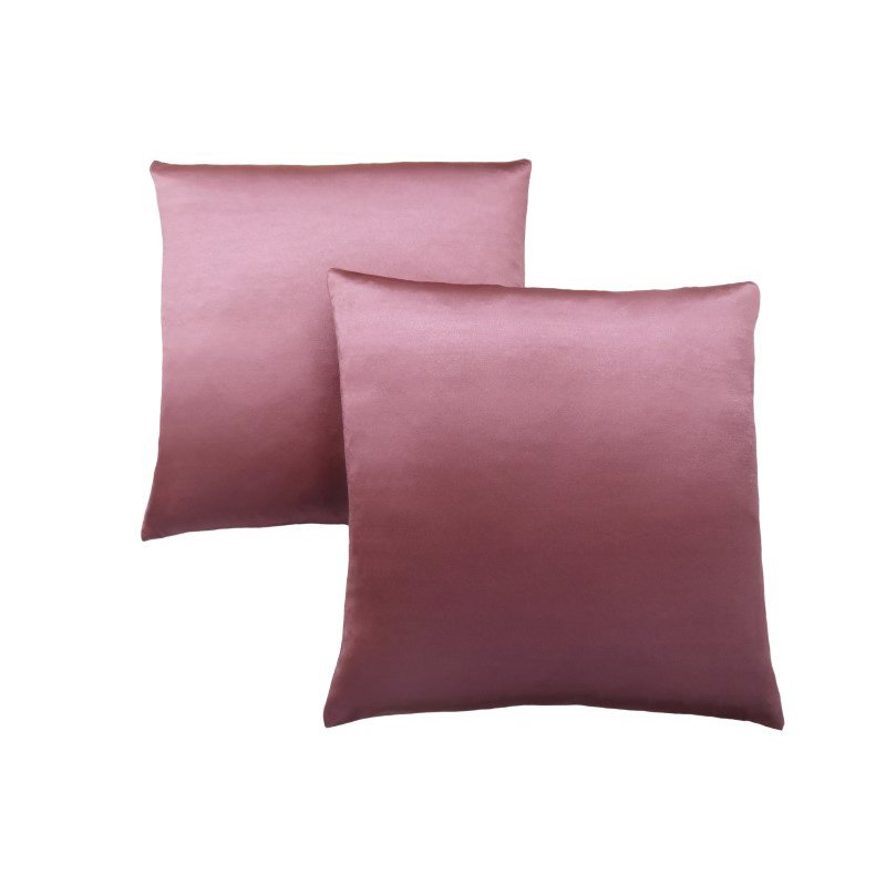 "Monarch Specialties 18"" x 18"" Pillow in Pink Satin / 2pcs (I 9339)"