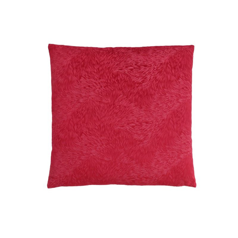 """Monarch Specialties 18"""" x 18"""" Pillow in Red Feathered Velvet / 1pc (I 9326)"""