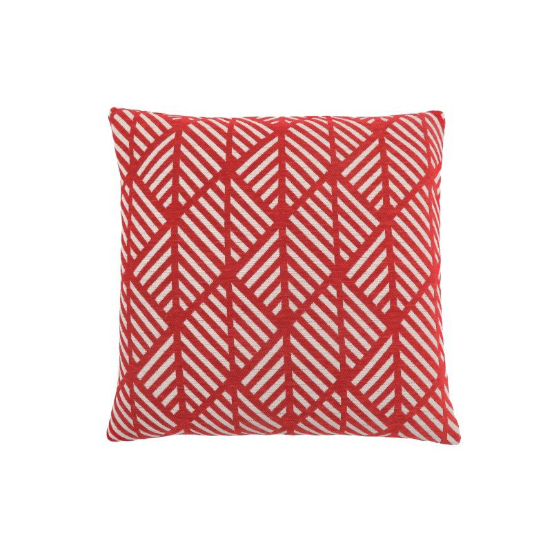"""Monarch Specialties 18"""" x 18"""" Pillow in Red Geometric Design / 1pc (I 9208)"""