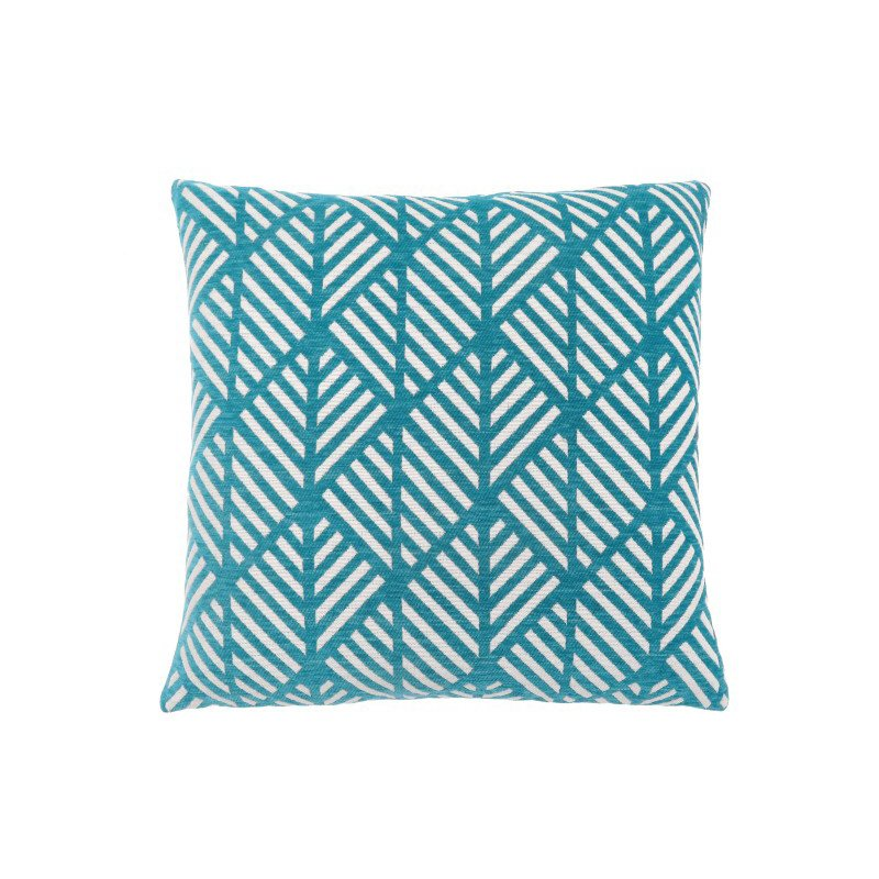 """Monarch Specialties 18"""" x 18"""" Pillow in Teal Geometric Design / 1pc (I 9210)"""