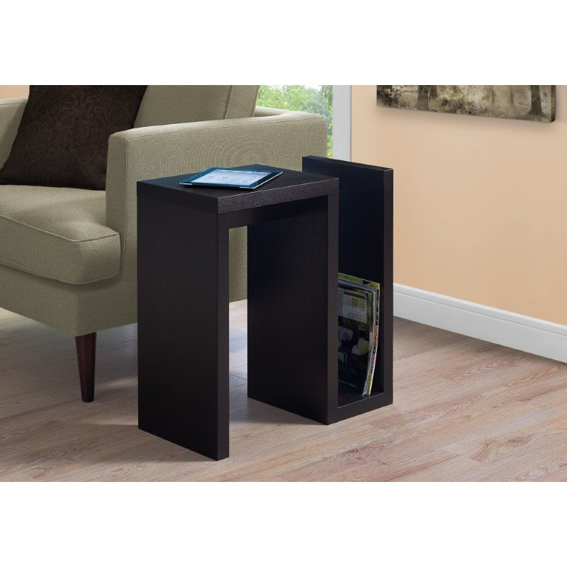 """Monarch Specialties 24""""H Accent Table in Cappuccino (I 2089)"""