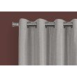 """Monarch Specialties 2pcs 52""""W x 84""""H Curtain Panel in Silver Solid Blackout (I 9835)"""