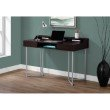 "Monarch Specialties 48""L Computer Desk in Cappuccino / Silver Metal (I 7362)"