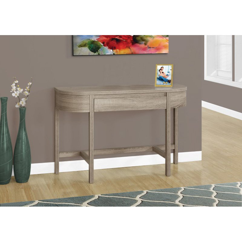"""Monarch Specialties 48""""L Accent Table in Dark Taupe with a Storage Drawer (I 2557)"""