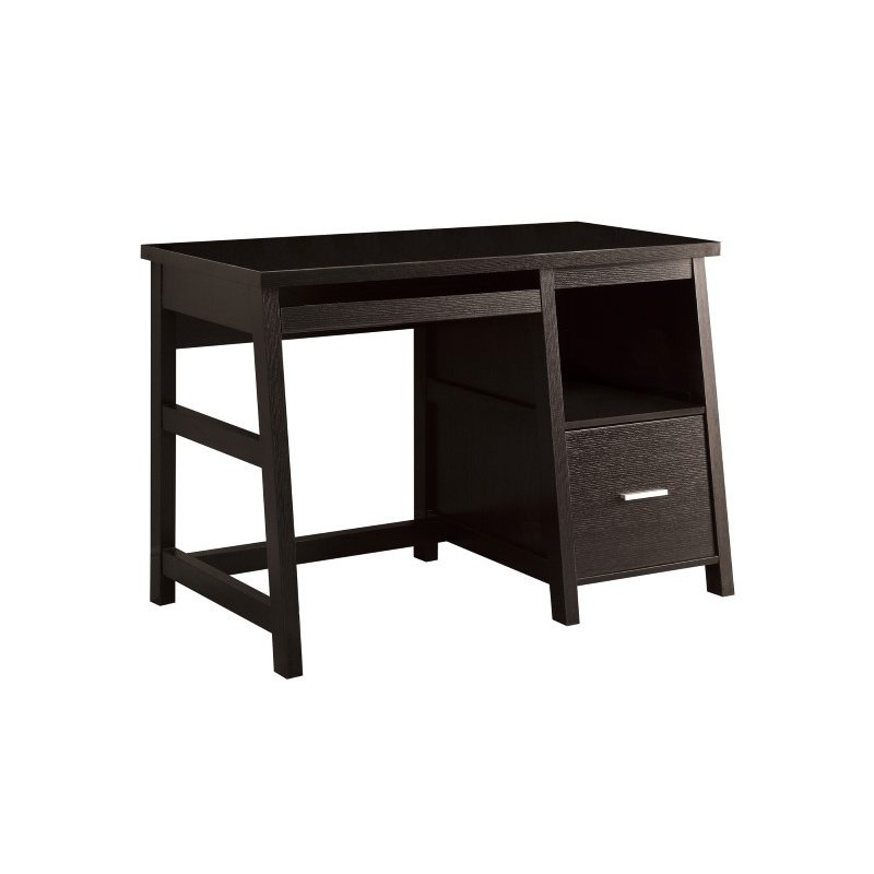 "Monarch Specialties 48""L Computer Desks in Cappuccino with a Storage Drawer (I 7038)"