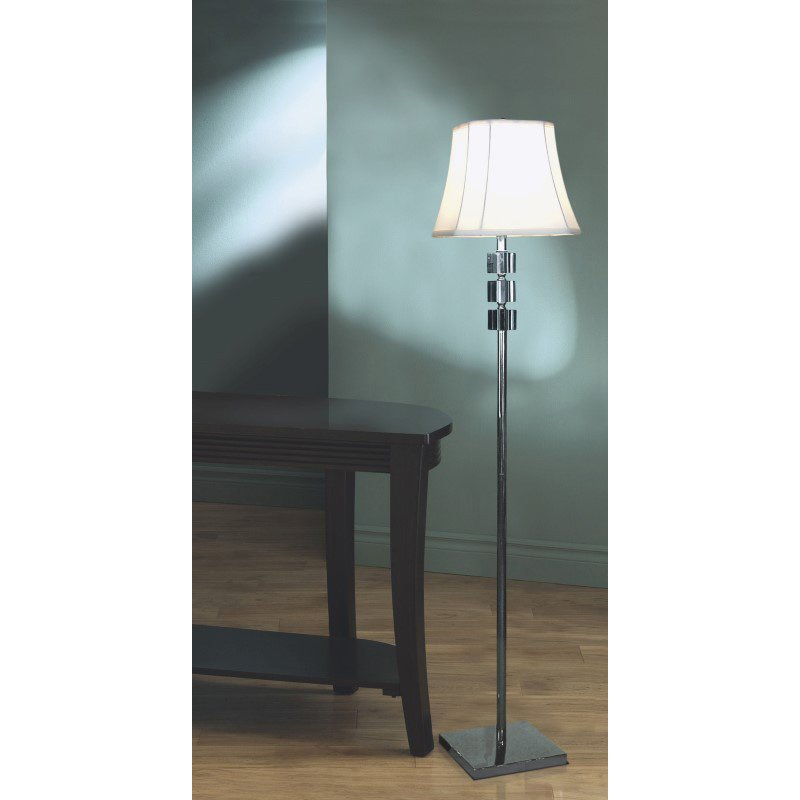 """Monarch Specialties 59""""H Contemporary Style Lamp in Crystal and Metal (I 6757)"""