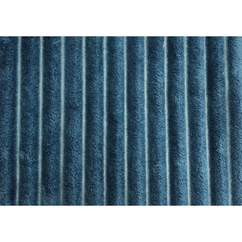 """Monarch Specialties 60"""" x 50"""" Throw in Blue Ultra Soft Ribbed Style (I 9604)"""