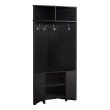 "Monarch Specialties 67""H Hall Tree in Cappuccino Corner Unit (I 2770)"