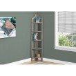 "Monarch Specialties 72""H Bookcase in Dark Taupe Corner Accent Etagere (I 2418)"