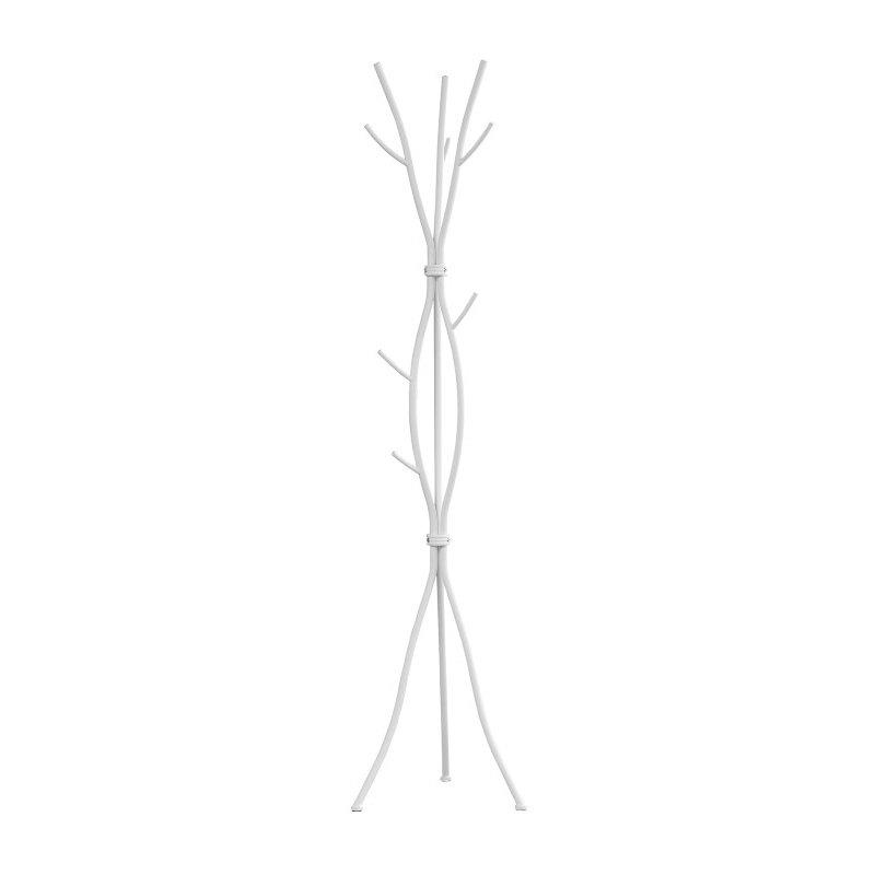 """Monarch Specialties 74""""H Coat Rack in White Metal (I 2063)"""