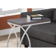 Monarch Specialties Accent Table in Grey with Chrome Metal (I 3187)
