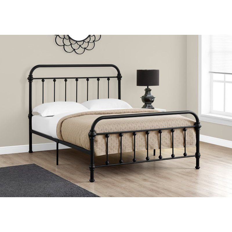 Monarch Specialties Full Size Black Metal Frame only Bed (I 2636F)