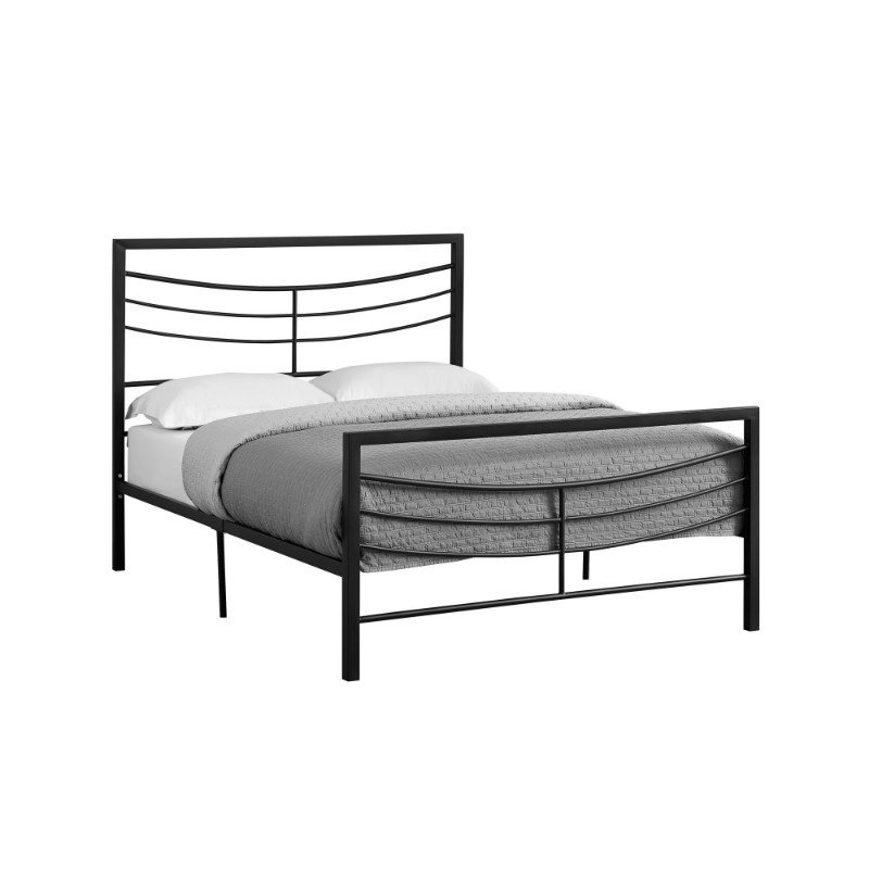 Monarch Specialties Full Size Black Metal Frame only Bed (I 2641F)