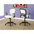 Monarch Specialties Multi-Position Office Chair in White Mesh Mid-Back (I 7266)