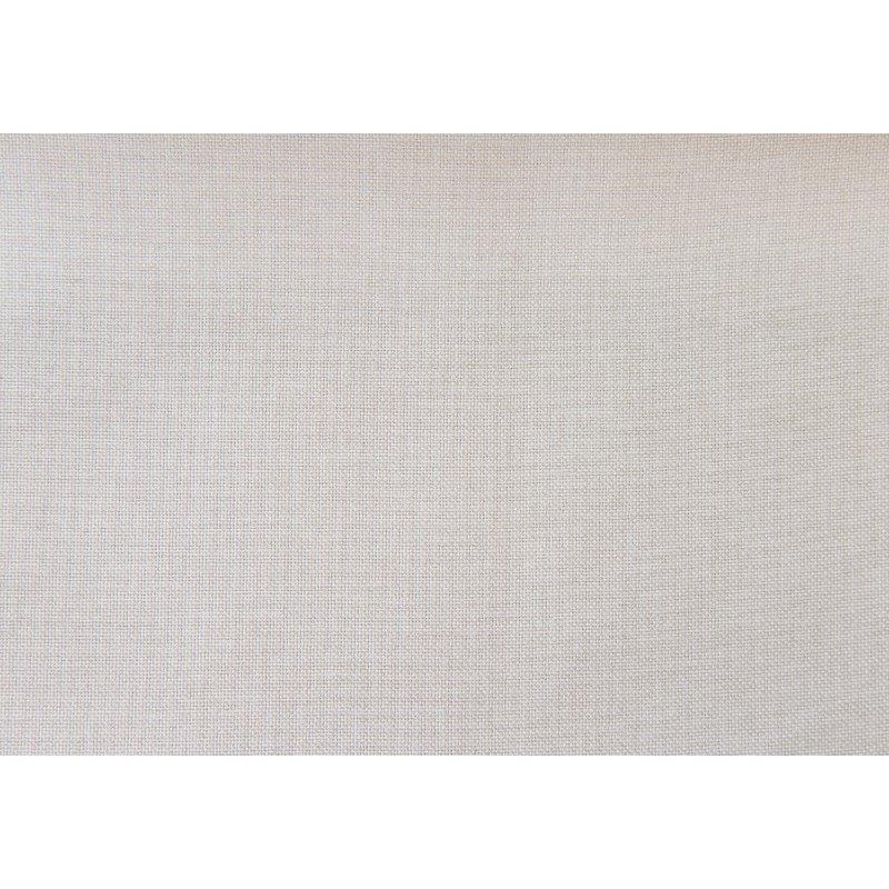 Monarch Specialties Queen Size Bed in Beige Linen with Brown Wood Legs (I 5981Q)