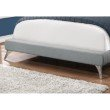 Monarch Specialties Queen Size Bed in Grey Linen with Chrome Legs (I 5950Q)